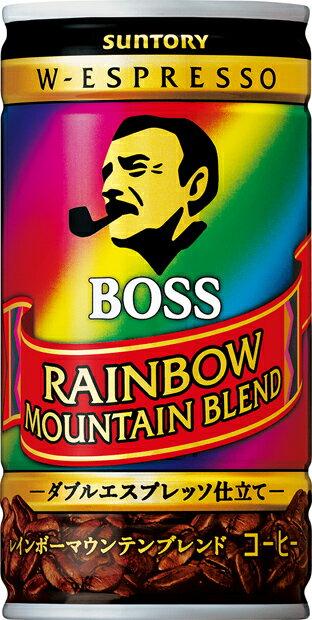 【3ケースまで1個口配送に変更】サントリー BOSS ボス レインボーマウンテン 185ml×30本(1ケース)【ご注文は3ケースまで同梱可能です】