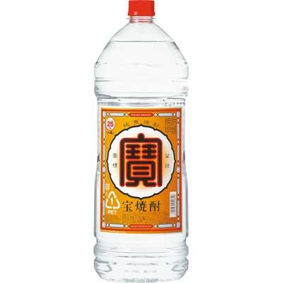 【送料無料】【ケース販売】宝酒造 宝焼酎 25度 4000ml(4L)4本【北海道・沖縄県は対象外となります。】