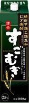 最大400円OFFクーポン配布中 合同酒精 すごむぎ 麦 25度 1.8L<紙パック>1本【ご注文は2ケース(12本)まで同梱可能です】