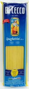 【送料無料】【並行品】DE CECCO NO.11 ディチェコスパゲッティーニ (1.6mm) 500g×24袋【北海道・東北・四国・九州・沖縄県は必ず送料がかかります】