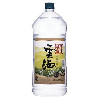 【送料無料】本格そば焼酎 雲海 そば 25度 4000ml(4L)×4本【北海道・沖縄県は対象外となります。