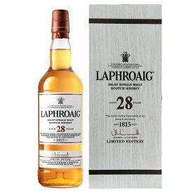 ラフロイグ 28年 カスクストレングス 44.4度 700ml [並行輸入品]【シングルモルト スコットランド スコッチ ウイスキー アイラ】