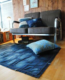 クッションカバー西海岸デニムシンプルインダストリアルカフェ風ラフィカ約45×45cm【】
