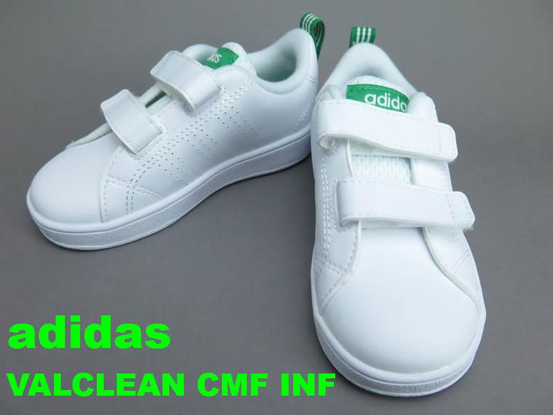 adidas バルクリーン2 CMF INFVALCLEAN 2 CMF INF 白スニーカースタンスミスCFのデザインをイメージした子供靴13cm 14cm 15cm 16cm