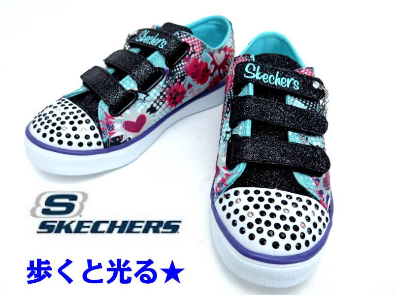 SKECHERS『スケッチャーズ』10608L【光るスニーカー】【光る靴】 【キッズ・ジュニアスニーカー】【女の子】17cm 18cm 19cm 20cm 21cm