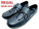 リーガル REGAL 954R AFH ブラック【紳士靴】メンズ・カジュア ドライビングシューズ モカシン 24.5cm 25cm 25.5cm 26cm 26...