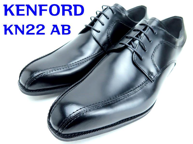 リーガル・KENFORD『ケンフォード』KN22AB【紳士靴】【ビジネスシューズ】【スワールトウ】ブラック【4E】【幅広】【ワイド】【紐】24.5cm 25cm 25.5cm 26cm 26.5cm 27cm