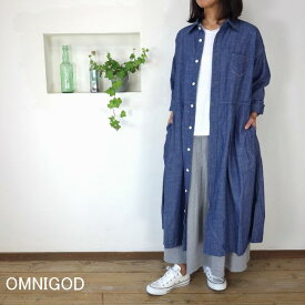 OMNIGOD オムニゴッド オリジナルシャンブレー ワイドワークドレス【SMTB-ms】