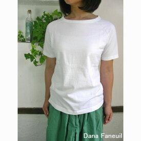 5%OFFクーポン配布中→10/30(金)11:59まで 【追跡メール便無料】Dana Faneuil ダナファヌル ムラ糸 ラグラン 半袖Tシャツ