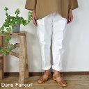 5%OFFクーポン配布中→5/14(金)11:59まで 【追跡メール便無料】 Dana Faneuil ダナファヌル Wゴム テーパードパンツ