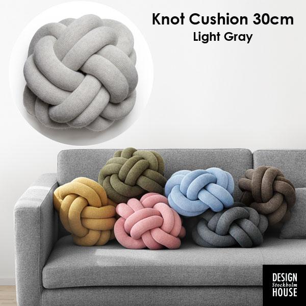 Knot Cushion(ノットクッション)30cm ライトグレー DESIGN HOUSE stockholm(デザインハウス ストックホルム)スウェーデン 北欧インテリア【送料無料】【RCP】【HLS_DU】