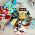 OWLS(フクロウ)/フエルトのオーナメント/Sonailcosmiqueglobal