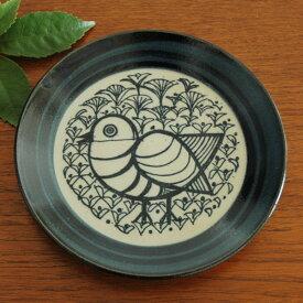Lisa Larson(リサ・ラーソン)益子の皿とり 青 5.5寸皿 益子焼 Lisa Larson JAPAN Series(ジャパンシリーズ)