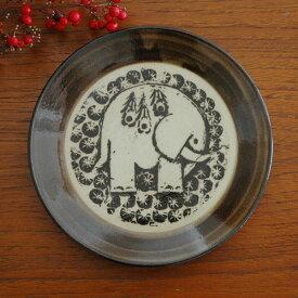 Lisa Larson(リサ・ラーソン)益子の皿ぞう 茶 5.5寸皿 益子焼 Lisa Larson JAPAN Series(ジャパンシリーズ)【HLS_DU】【RCP】