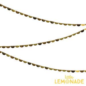 あす楽!【MeriMeriメリメリ2017クリスマス】ちいさなゴールドの半円型スプールペーパーガーランド【小さなガーランドスカラップHalfCircle子供部屋インテリアChristmasパーティーホームパーティー誕生日バースデー飾り付け】リトルレモネード