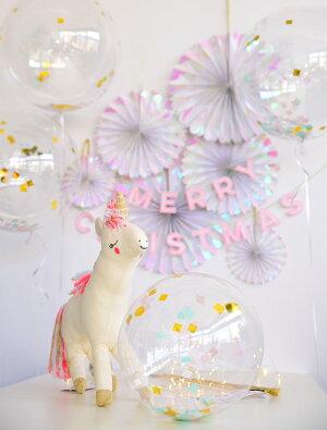 あす楽!【MeriMeriメリメリ2017クリスマス】イリディセントコンフェッティ【Iridescent虹色玉虫色オーロラ色紙吹雪パーティーイベントホームパーティー誕生日confetti飾り付け】リトルレモネード