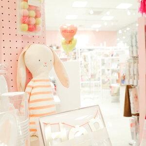 あす楽!【MeriMeriメリメリ】うさぎぬいぐるみ人形クッションknittedrabbit【イースターバニー】【インテリア子ども部屋キッズルームファブリック】【誕生日プレゼントギフトに】ボーダーEASTERBUNNYリトルレモネード