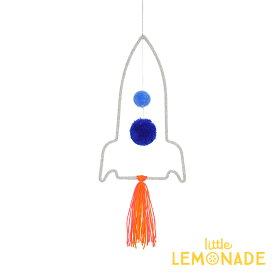 【Meri Meri】ウールモビール ロケット ハンギングデコレーション ギャラクシー スペースシャトル オーナメント インテリア 装飾 デコレーション お祝い ワイヤーモビール 子ども部屋 Rocket Wire Wall Decoration あす楽 リトルレモネード