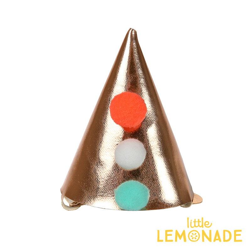 【Meri Meri メリメリ】ヘアクリップ ゴールドパーティーハット ポンポン付 ヘアピン ヘアアクセサリー キッズ 女の子 プレゼント Mini Candle Pointed Party Hat Hair Clip あす楽 リトルレモネード