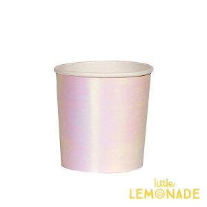 イリディセントペーパーカップ8個入りスモールサイズ【SmallIridescentCup】虹色ピンク紙コップ使い捨てカップ紙コップホームパーティー誕生日クリスマスパーティーテーブルコーディネート飾りChristmasXmasリトルレモネードあす楽