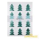 【Meri Meri】クリスマスツリー グリッターステッカーシール 10枚入り 【 Glitter Tree Stickers】 クリスマス ペーパ…