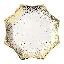 ゴールドコンフェッティ ラージプレート8枚入り【Meri Meri】【紙皿 大皿 誕生日 バースデイ ペーパープレート テーブ…