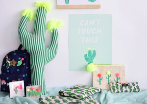 あす楽!【MeriMeriメリメリ】刺繍ブローチ【Cactus・カクタス・サボテン】バッチブローチピンワッペン10種類【キッズ装飾デコレーションリュックサックやカバンに】