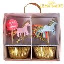 ユニコーンのカップケーキKIT 24本入り【Meri Meri】【unicorn ベーキングカップ バースデー ファースト バースデイ …