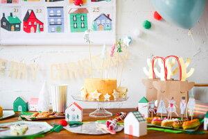 【MeriMeriメリメリ】ツリーとお月さまのケーキトッパー【Tree&MoonCakeTopper】ケーキ飾りクリスマスケーキ星月フードピックホームパーティー誕生日クリスマスパーティーテーブルコーディネート飾りChristmasXmasリトルレモネードあす楽