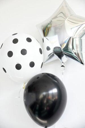 【ネコポス送料無料】誕生日ガーランドと数字が選べるMONOTONEPARTYKIT【風船壁飾りバースデイデコレーション・バナー・バルーンナンバーバルーンHAPPYBIRTHDAY記念写真風船】あす楽リトルレモネード