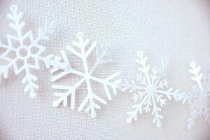 ホワイトグリッタースノーフレークガーランド-LETITSNOW【GingerRay】クリスマス飾り壁X'mas雪白WHITEGLITTERSNOWFLAKECHRISTMASGARLANDDECORATIONデコレーションディスプレイクリスマスパーティー冬のモチーフあす楽リトルレモネード