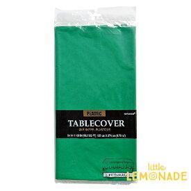 使い捨てテーブルクロス グリーン・緑 プラスチック製 テーブルカバー お誕生日会パーティーのテーブルコーディネートに あす楽 リトルレモネード