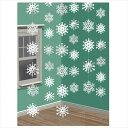 ストリングデコレーションスノーフレーク【amscan】 ディスプレイ 飾り ホーム パーティー 雪の結晶 バナー ガーラン…