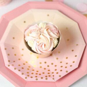 【illumepartyware】ピンクフォイルペーパープレート【大直径23cm】10枚入りPinkFoilLargePlate【女の子パーティーウェディング結婚式お祝い誕生日バースデイ紙皿テーブルウェア】あす楽リトルレモネード