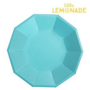 ブルー フォイル ペーパープレート/10枚入り【大 直径23cm】【illume partyware】【Blue Foil Large Plate 男の子 女の子 パーティー ウェディング 結婚式 お祝い 誕生日 バースデイ 紙皿 テーブルウェ