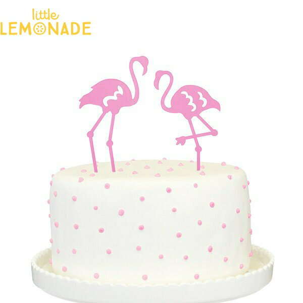 【Alexis Mattox Design】ケーキトッパー ピンクフラミンゴ 【ケーキ用飾り】cake topper Flamingo 誕生日 ファーストバースデイ 1歳誕生日 ネコポス可 あす楽 リトルレモネード