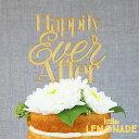 あす楽!【Alexis Mattox Design】ケーキトッパー Happily Ever After【ケーキ用飾り】 ウェディング ケーキバイトの演出に リ...