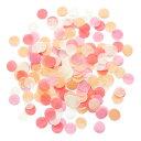 あす楽!コンフェッティ 【ピーチオレンジ】 紙吹雪 Peach Sorbet 装飾 バルーン 結婚式 プレ花嫁 ペーパーシャワー