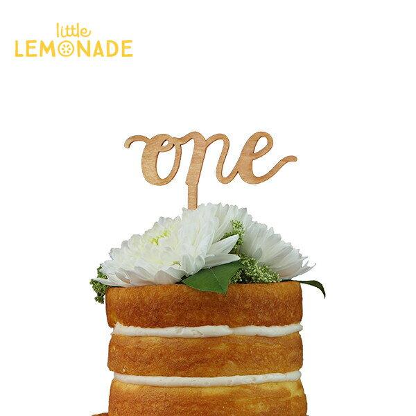 あす楽!【Alexis Mattox Design】ケーキトッパー ONE 木製【ケーキ用飾り】cake topper ハッピーバースデイ お誕生日 カリグラフィー ファーストバースデイ 1歳誕生日 ケーキデコレーション リトルレモネード