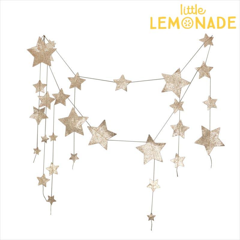 【Numero 74】フォーリングスター ガーランド ゴールド falling star garland【プレゼント・パーティーのデコレーション・お部屋インテリアに】あす楽 リトルレモネード