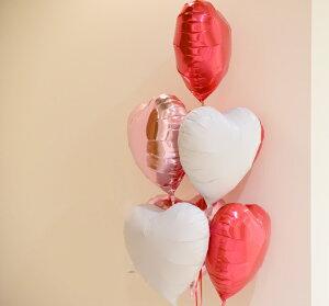 あす楽!【送料無料】ハート7個バルーンブーケ【浮かせてお届け】ヘリウムガス入りメッセージ付色が選べる【1歳誕生日パーティー飾り付けギフトバルーン電報風船入学祝い】