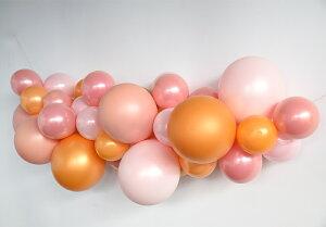 あす楽!【風船】バルーンガーランドDIYキットLittleLemonade限定色ROSEGOLDMIX1メートル【パーティーデコレーションゴム風船balloongarlandポンプ付きリトルレモネード