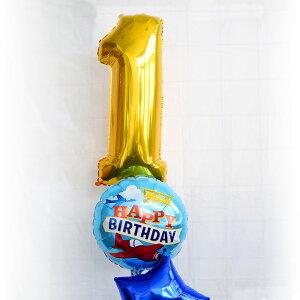 【ガスなしネコポスOK】66CMミドルサイズのナンバーバルーンゴールド【1歳バースデイ誕生日お祝い飾り受付数字バースデーフィルム風船バルーンballoonGOLD】あす楽リトルレモネード