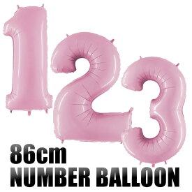 【◇パステル ピンク◇ 数字バルーン】約90CMのビッグナンバーバルーン お誕生日のお祝いの飾り付けに 【誕生日 バルーン 大人 バースデイ パーティーデコレーション フィルム風船】【メール便可】あす楽 リトルレモネード