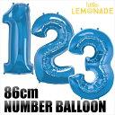 【数字バルーン】約90CMのビッグナンバーバルーン 【ブルー】お誕生日のお祝いの飾り付けに 【バースデイ パーティー…