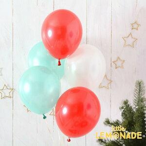 あす楽!【パーティーデコレーション】【パール】【ばら売り】パーティーバルーンパステルパールレッドクリスマス【アメリカ製高品質風船】