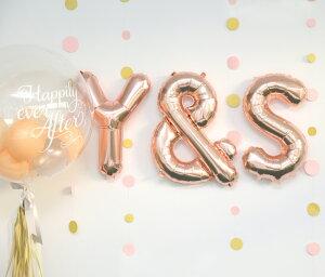 ネコポスOK【数字の風船】スモール40CMナンバーバルーン【ローズゴールド】お誕生日のお祝いの飾り付けに【バースデイパーティーフィルム風船】フォトプロップ【ネコポス発送可】リトルレモネード