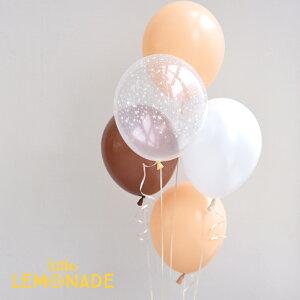【風船】 パーティーバルーン 5枚パック クリアベージュ 誕生日やお祝いの飾り付けに 透明 モカ ベージュ ブラッシュ 誕生日 バルーン バースデー 大人 パーティーデコレーション アメリカ