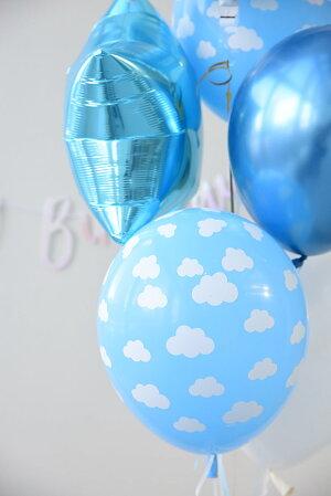 【風船】【ばら売り】パーティーバルーンクラウド雲ブルー青空青【パーティーデコレーション】【アメリカ製高品質ゴム風船】あす楽リトルレモネード