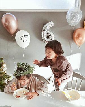 【風船】「HAPPYBIRTHDAY3枚TOYOU2枚」【ホワイト】パーティーバルーン5枚パックhappybirthdaytoyou誕生日バルーン白モノトーンバースデイ飾りバースデーパーティーデコレーションゴム風船メール便可llsあす楽リトルレモネード